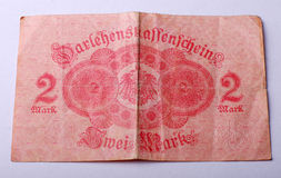 Oud Duits bankbiljet vanaf 1914 Stock Afbeeldingen