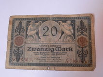 Oud Duits geld Royalty-vrije Stock Afbeeldingen