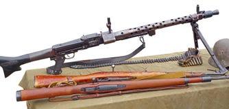 Oud Duits Machinegeweer royalty-vrije stock afbeeldingen