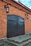 Oud Duits pakhuis Kaliningrad (vroegere Koenigsberg), Rusland Royalty-vrije Stock Afbeelding