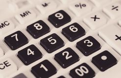 Oud Dusty Calculator Buttons Royalty-vrije Stock Foto