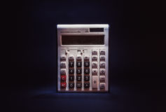 Oud Dusty Electronic Calculator Stock Foto