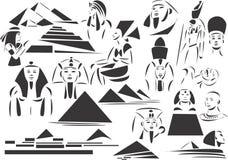Oud Egypte royalty-vrije illustratie