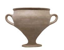 Oud Egyptisch geïsoleerdu aardewerk Stock Afbeelding