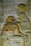 Oud Egyptisch ISIS van de godin met Pharoah Seti Stock Foto's