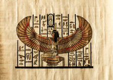 Oud Egyptisch perkament Royalty-vrije Stock Fotografie