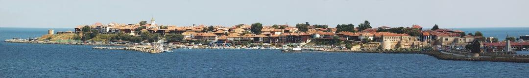 Oud eiland Nesebar - Bulgaarse unsecoerfenis Stock Foto's
