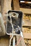 Oud elektropaneel Stock Foto's