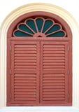 Oud en doorstaan houten venster royalty-vrije stock foto's