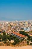 Oud en modern Athene, Griekenland Stock Foto