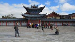 Oud en Modern in Lijiang royalty-vrije stock afbeelding