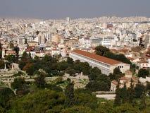 Oud en nieuw - Athene, Griekenland Royalty-vrije Stock Afbeeldingen