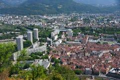 Oud en nieuw Grenoble royalty-vrije stock afbeeldingen