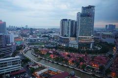 Oud en nieuw Malacca stock foto's