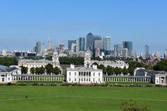 Oud en nieuw; mening over de stad van Londen Royalty-vrije Stock Foto