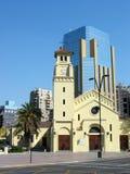 Oud en Nieuw Santiago DE Chili Stock Foto's