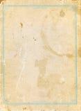 Oud en versleten document Stock Fotografie