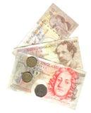 Oud Engels geld Stock Fotografie