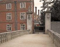 Oud Engels herenhuis Royalty-vrije Stock Foto's