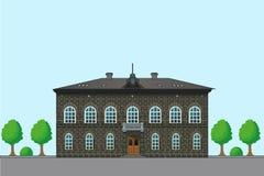 Oud Engels Huis Vectorarchitectuurillustratie geschiedenis Oude Huisplannen Huizen voor verkoop Royalty-vrije Stock Afbeelding