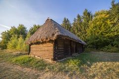 Oud etnisch Oekraïens dorp royalty-vrije stock foto's