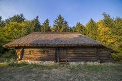 Oud etnisch Oekraïens dorp stock foto