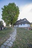 Oud etnisch Oekraïens dorp royalty-vrije stock afbeelding