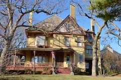 Oud Evanston-Huis Stock Foto