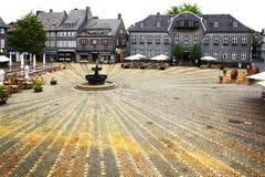 Oud Fachwerk-huis in Goslar. Stock Foto's