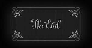 Oud film einde vector illustratie