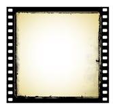 Oud filmframe in grungestijl Stock Afbeelding