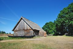 Oud fishermanshuis Polen Stock Fotografie