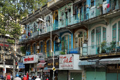 Oud flatgebouw bij de stad van China Royalty-vrije Stock Afbeelding