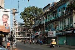 Oud flatgebouw bij de stad van China Royalty-vrije Stock Foto's