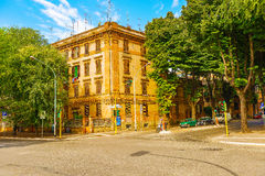 Oud flatgebouw in Rome, Italië Royalty-vrije Stock Afbeelding