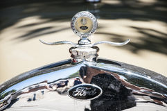 Oud Ford Hood Ornament - Royalty-vrije Stock Afbeelding