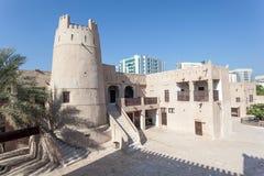 Oud fort bij het museum van Ajman Royalty-vrije Stock Afbeeldingen