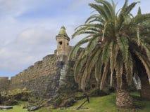 Oud Fort in Horta van Portguguese de Azoren Stock Foto's