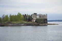 Oud fort Kronshlot in Kronstadt Rusland Stock Fotografie