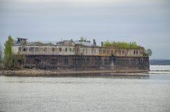 Oud fort Kronshlot in Kronstadt Rusland Royalty-vrije Stock Afbeeldingen