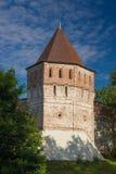 Oud fort met torens op muur royalty-vrije stock afbeeldingen