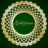 Oud Frame Geometrisch ornament Het cirkelpatroon Stock Foto