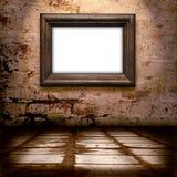 oud frame op de muur   Royalty-vrije Stock Afbeeldingen