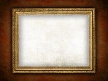 Oud frame op grungeachtergrond Stock Afbeelding