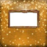 Oud frame voor foto of uitnodigingen Royalty-vrije Stock Foto