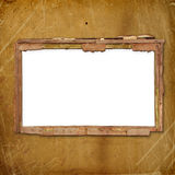 Oud frame voor foto of uitnodigingen in bijlage Stock Foto's