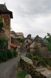 Oud Frans dorp royalty-vrije stock fotografie
