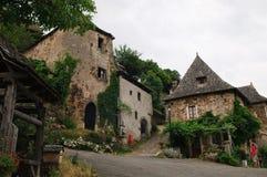 Oud Frans dorp stock foto