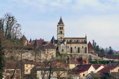 Oud Frans dorp Stock Foto's