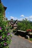 Oud Frans dorp stock afbeeldingen